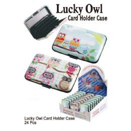 24 Bulk Luck Owl Card Holder Case