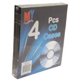 96 Bulk Cd Case Plastic 4pk
