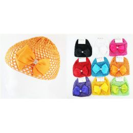 96 Units of Kids' Crochet Hat Bow Ties In Assorted Colors - Baby Accessories