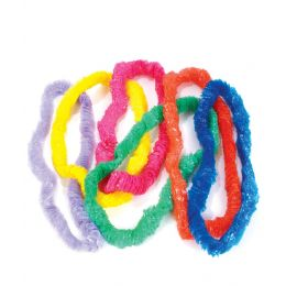 24 Units of Plastic Luau Leis - Assorted - LED Party Supplies
