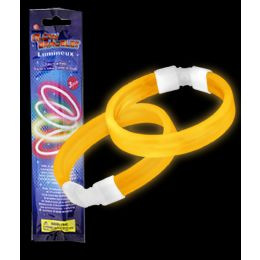 300 Units of Glow Retail Packaged Triple Wide Bracelet - Orange - LED Party Supplies