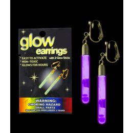 300 Units of Glow Pendant Earrings - Purple - LED Party Supplies