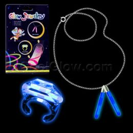 288 Units of Glow Ring And Anklet Set - Blue - LED Party Supplies