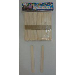 48 Units of 100pc Wooden Craft Sticks - Craft Wood Sticks and Dowels