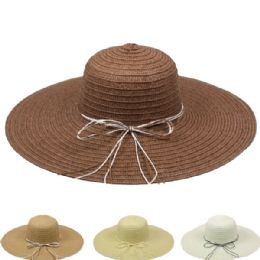 24 Units of Women's Summer Straw Hat In Assorted Colors - Sun Hats