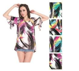 72 of Womens Fashion Printed Blouse