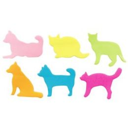 144 Units of Pets Sticky Notes - Memo Holders and Magnets