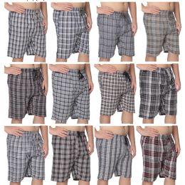 36 Units of Men's Short Pajama Pants 100% Cotton - Mens Pajamas