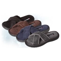 36 Units of Boys Open Toe Cross Slippers In Assorted Sizes And Colors Per Case - Boys Slippers