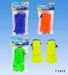48 Units of Swim Fins set in pvc bag header card - Summer Toys