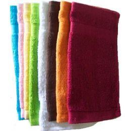 288 Units of 12x12 Heavy Solid Wash Cloth Assts 1.25 Lb/dz - Towels