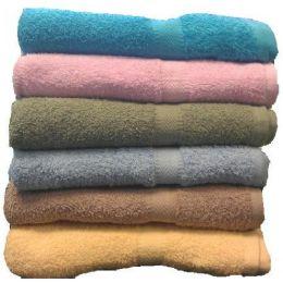 48 Units of 25x50 Solid Terry Bath Towel Assts 8.5lb - Towels