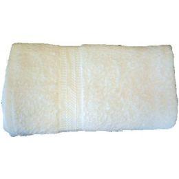 48 Units of 27x54 Solid Heavy White Bath Towel - Towels