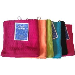72 Units of 12x12 Terry Solid Dyed Popcorn Dishcloth Assts - Towels