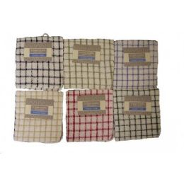 144 Units of 2 Pk 12x12 Terry Y.dyed Dc Mono Check Assts - Towels