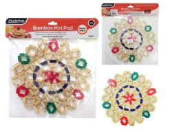 96 Units of Bamboo Hot Pad, Trivet, Pot Holder - Coasters & Trivets