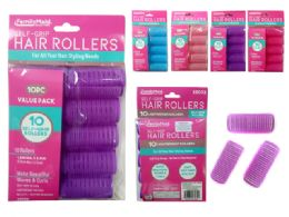 144 Units of Hair Roller Cling 10 Piece Set - Hair Rollers