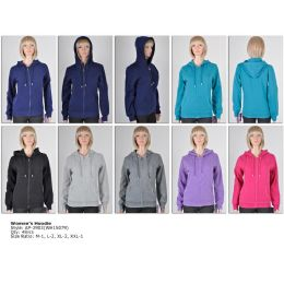 48 of Womens Fashion Hoodie Sweater Assorted Colors And Sizes