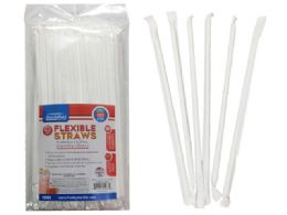144 Units of 100 Piece Individually Wrapped Straws - Straws and Stirrers