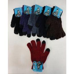 48 Units of Ladies Chenille Touch Screen Gloves - Conductive Texting Gloves