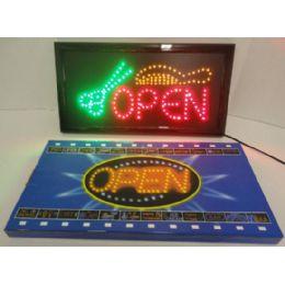 4 Units of Light Up SigN- Open [scissors & Comb] - Displays & Fixtures