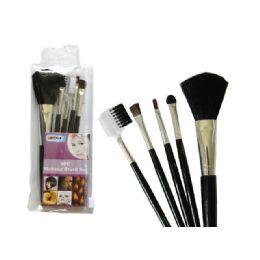 144 Units of 5 Piece Make Up Brush - Brushes