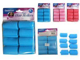 144 Units of 8 Piece Hair Roller Foam - Hair Rollers