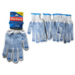 144 Units of 2 Pair Working Gloves With Grip Dots - Working Gloves