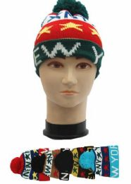 36 Bulk Unisex Winter Hat Assorted Color One Print