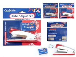 144 Units of 2 Piece Stapler 200 Staples - Staples and Staplers