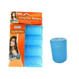 144 Units of Hair Roller Cling 8pc/set 40mm Asst - Hair Rollers
