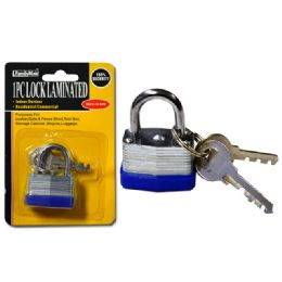144 Units of 30mm Laminated Lock With 2 Keys - Padlocks and Combination Locks