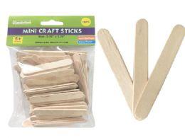 72 Units of 100 Piece Mini Craft Stick - Craft Wood Sticks and Dowels