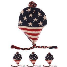 72 Bulk American Flag Chullo Winter Hat