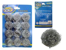 96 Units of 12 Piece Scourer Balls - Scouring Pads & Sponges