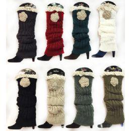 24 Units of Knitted Boot Topper Crochet Top Leg Warmer - Arm & Leg Warmers