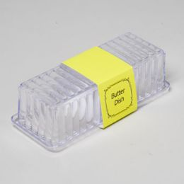 96 Units of Butter Dish Clear With Lid - Plastic Tableware