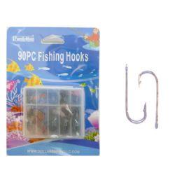 144 Wholesale Fishing Hooks 90pc/set