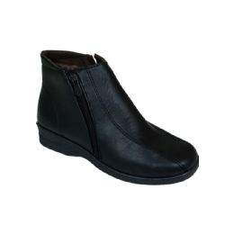 20 Units of Ladies Fashion Winter Ankle Boot With Zipper (black) - Men's Shoes