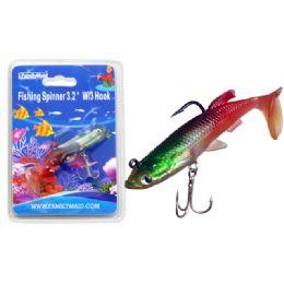 "144 Wholesale Fishing W/3 Hook 3.2"" 3asst Color"
