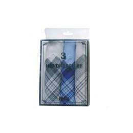 72 Units of 3 Pack Men's Handkerchiefs - Handkerchief