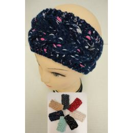 48 Units of Hand Knitted Ear Band [variegated] Loop - Ear Warmers