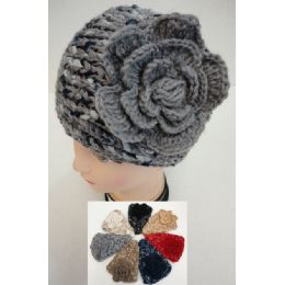 48 Units of Wide Hand Knitted Ear Band [variegateD-Flower] - Ear Warmers