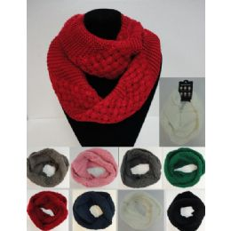48 Units of Knitted Infinity Scarf [basket Weave] - Winter Scarves