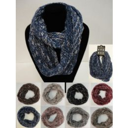 48 Units of Knitted Infinity Scarf [braided Knit] - Winter Scarves