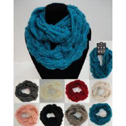 48 Units of Loose Cable Knitted Infinity Scarf - Womens Fashion Scarves