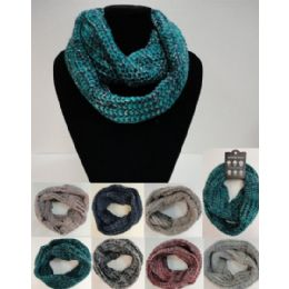 48 Units of Wide Knitted Infinity Scarf - Winter Scarves