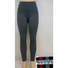 24 of Women's Textured Fleece Lined Legging