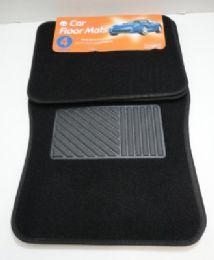 6 Units of 4 Piece Black Car Mat - Auto Sunshades and Mats