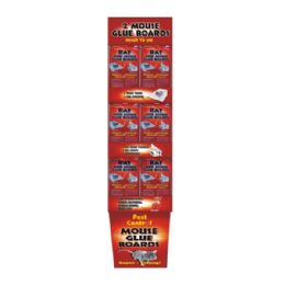144 Units of Pest Control Mouse Glue Board 2pk Floor Display - Pest Control